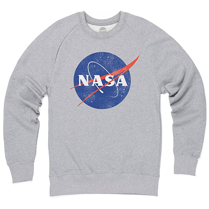 Amazon Abbigliamento it Nasa Uomo Girocollo Felpa Logo Official wFxX1H0qw
