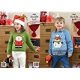 King Cole DK Knitting Pattern - 3805 Christmas Sweaters