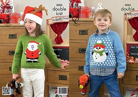 King Cole Dk Knitting Pattern 3805 Christmas Sweaters Amazon