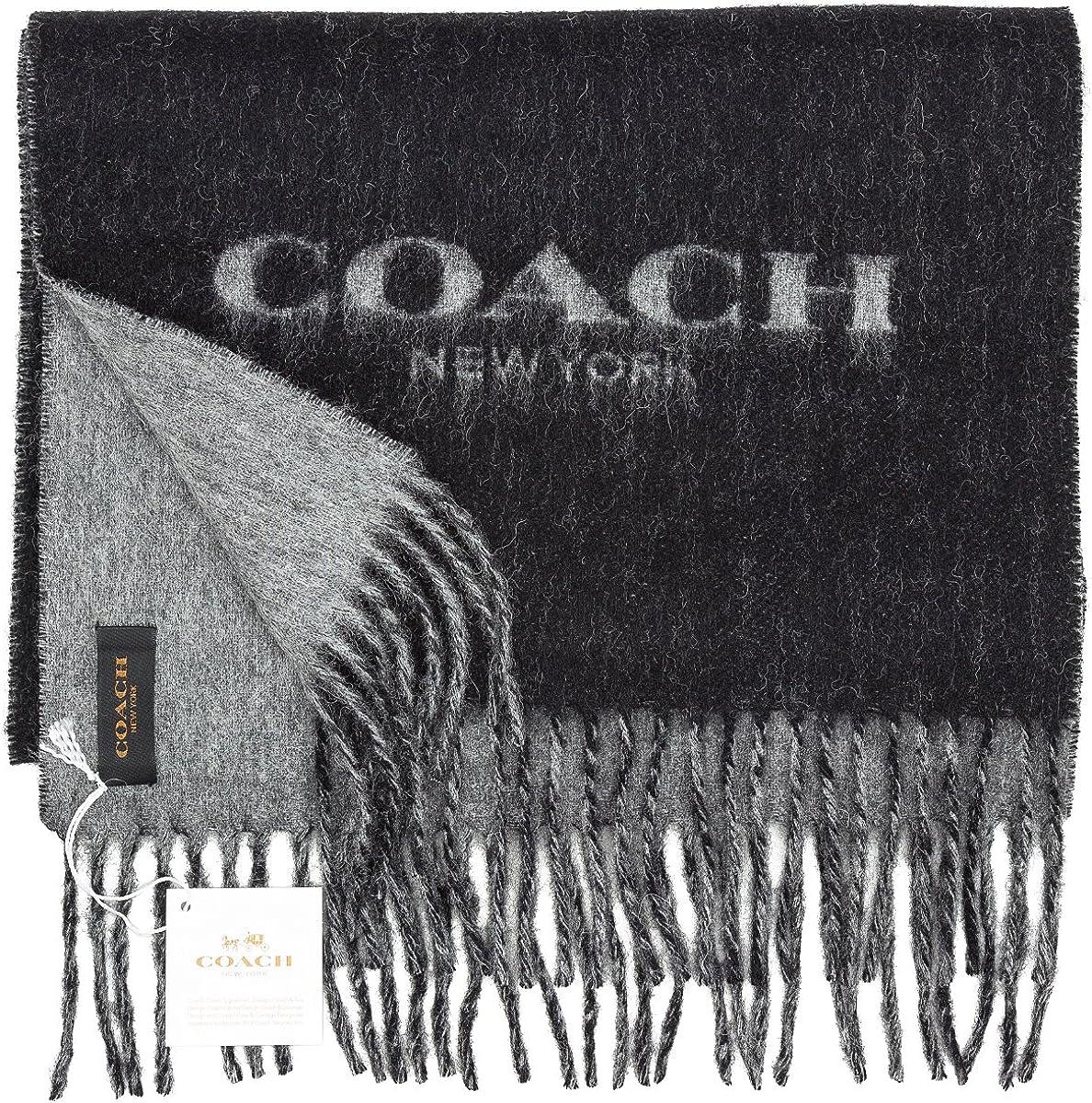 Coach F83138 Mens 100/% Cashmere Bicolor Signature Winter Scarf