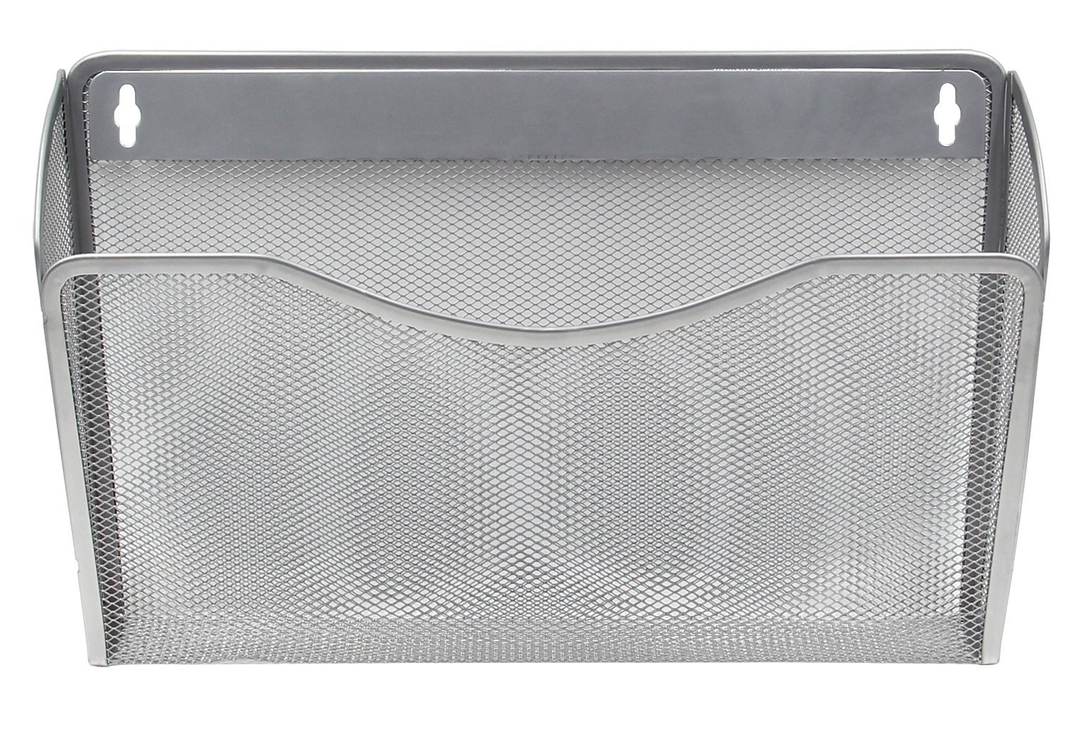 EasyPAG Mesh Collection Wall File Pocket Holder Organizer Metal for Office, 3 Pack,Silver by EasyPag (Image #3)