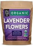Organic Lavender Flowers Dried | Perfect for Tea, Baking, Lemonade, DIY Beauty, Sachets & Fresh Fragrance | 100% Raw From France | Jumbo 16oz Resealable Kraft Bag | by FGO