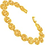 LIFETIME JEWELRY Filigree Sand Dollar Bracelet for Women 24k Real Gold Plated