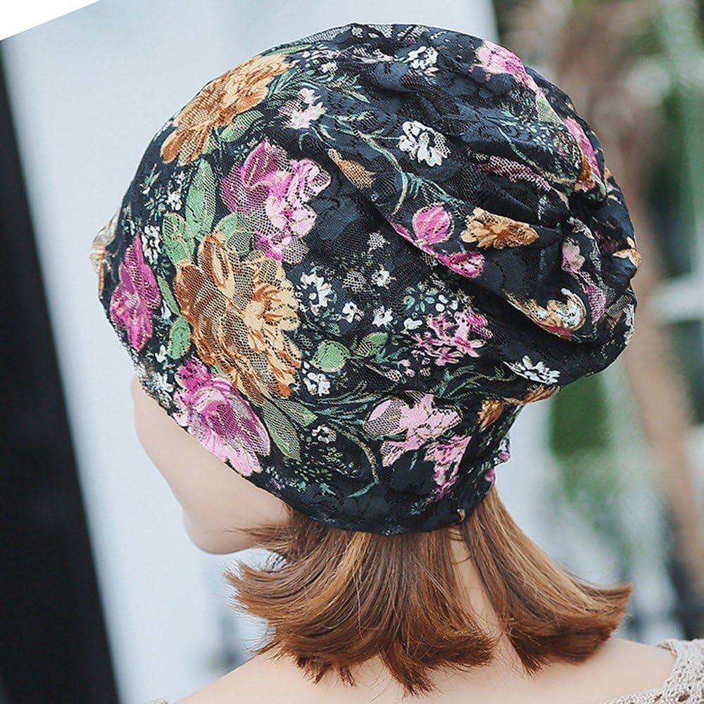 FRAUIT Donne Cappello Chemioterapia Copricapo Donna Turbante Berretto Headwear Ragazza Bandana Capelli Cappello Cappellino Estivo
