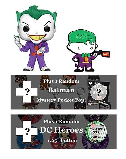 Amazon.com: dc comics Joker Bundle: Funko POP. Chibi imán ...