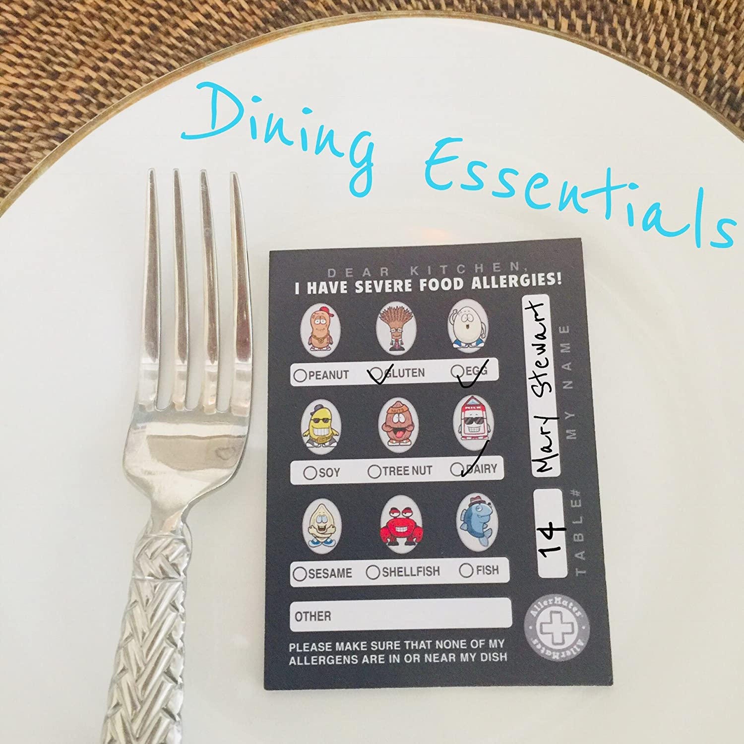 Food Allergy Awareness Kids Food Allergy Chef Cards For Restaurants Dining Out Note Pad For Kids