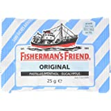 Fisherman's Friend Boîte de 24 Sachets Menthol Euca sans Sucres (600 g)