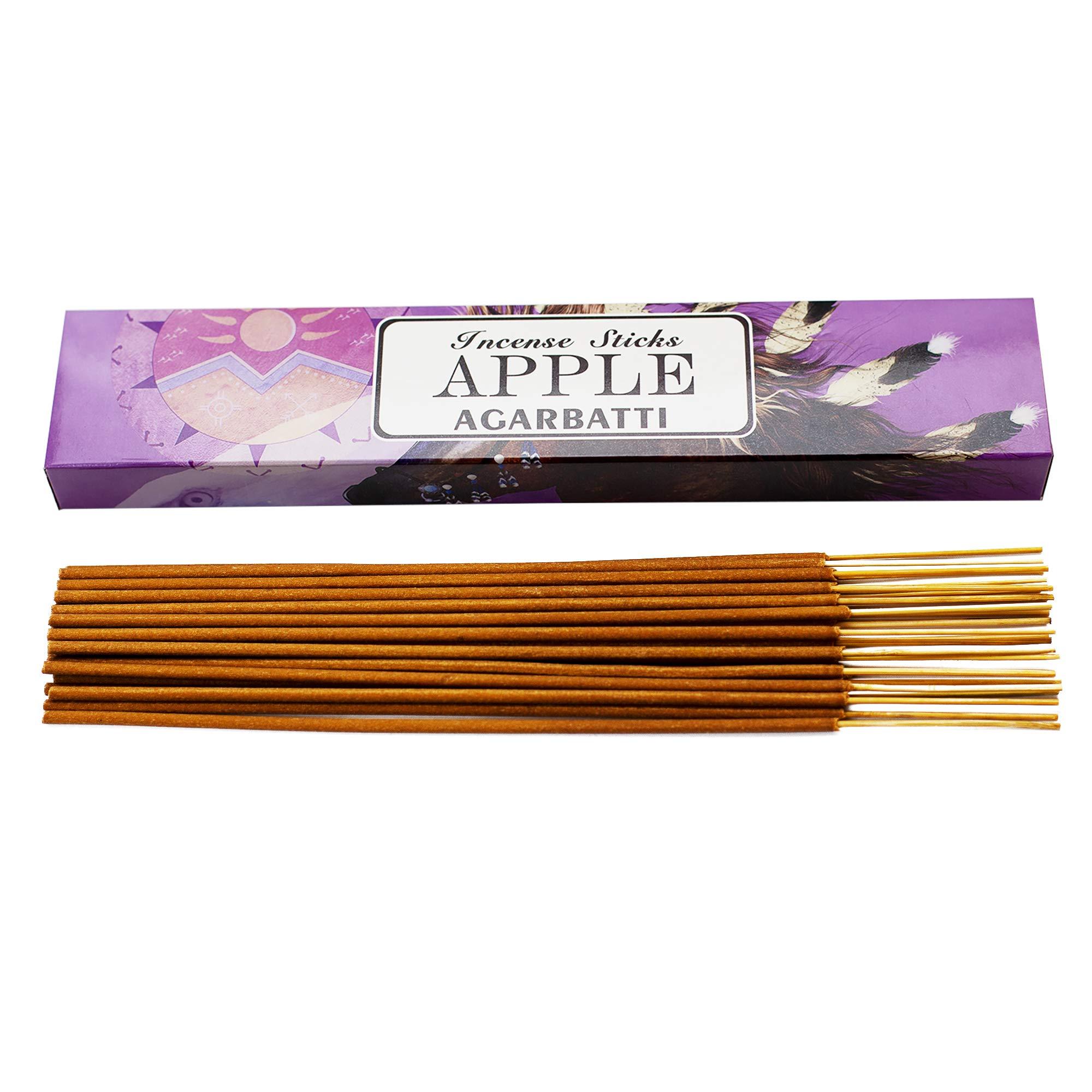 Mosfantal Premium Hand Dipped Incense Sticks - Lemon, Jasmine, Lavender, Vanilla, Apple, Variety Gift Pack (240Gram) by Mosfantal (Image #2)