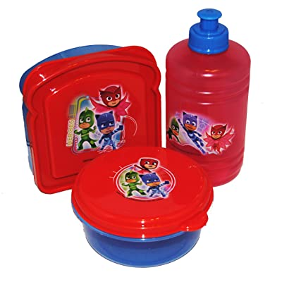 PJ Masks Lunch Box Containers Set (3 piece): Kitchen & Dining