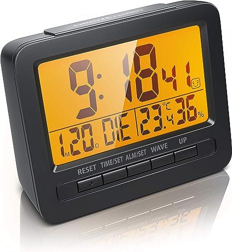 Bearware Led Wecker DigitalReisewecker Inkl Temperaturanzeige Alarmwecker