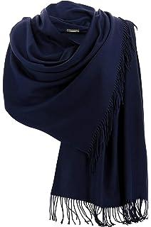 fe91894ebdda8 Charleselie94® - Etole châle écharpe cachemire laine marine BERTRAND BLEU