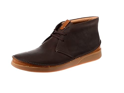 Oakland Rise Dark Brown Leather Mens Boots Clarks