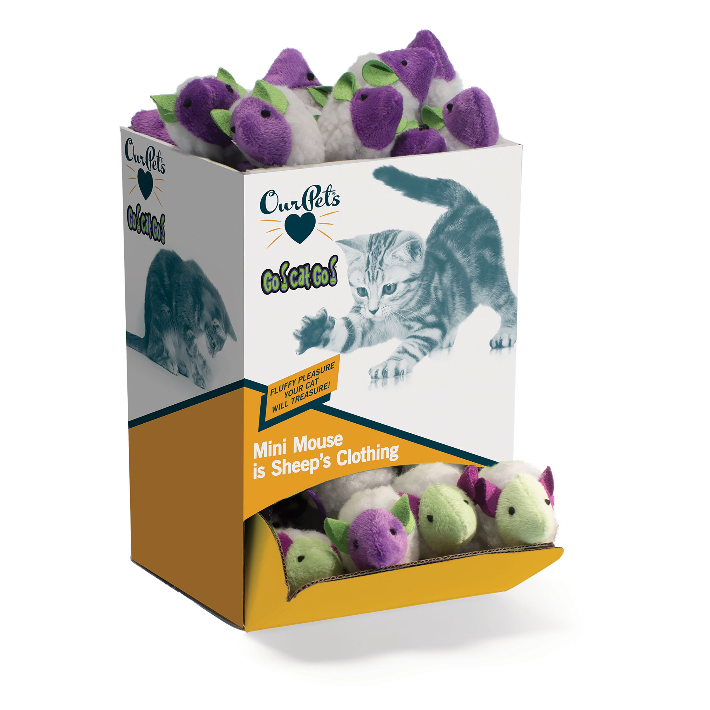 OurPets Mouse In Sheep's Clothing 48-Piece Bulk Cat Toy by Our Pets
