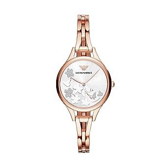 Emporio Armani Reloj Analogico para Mujer de Cuarzo con Correa en Acero Inoxidable AR11108: Amazon.es: Relojes