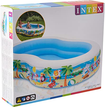 Intex 56490NP - Piscina hinchable rectangular 262 x 160 x 46 cm, 640 litros