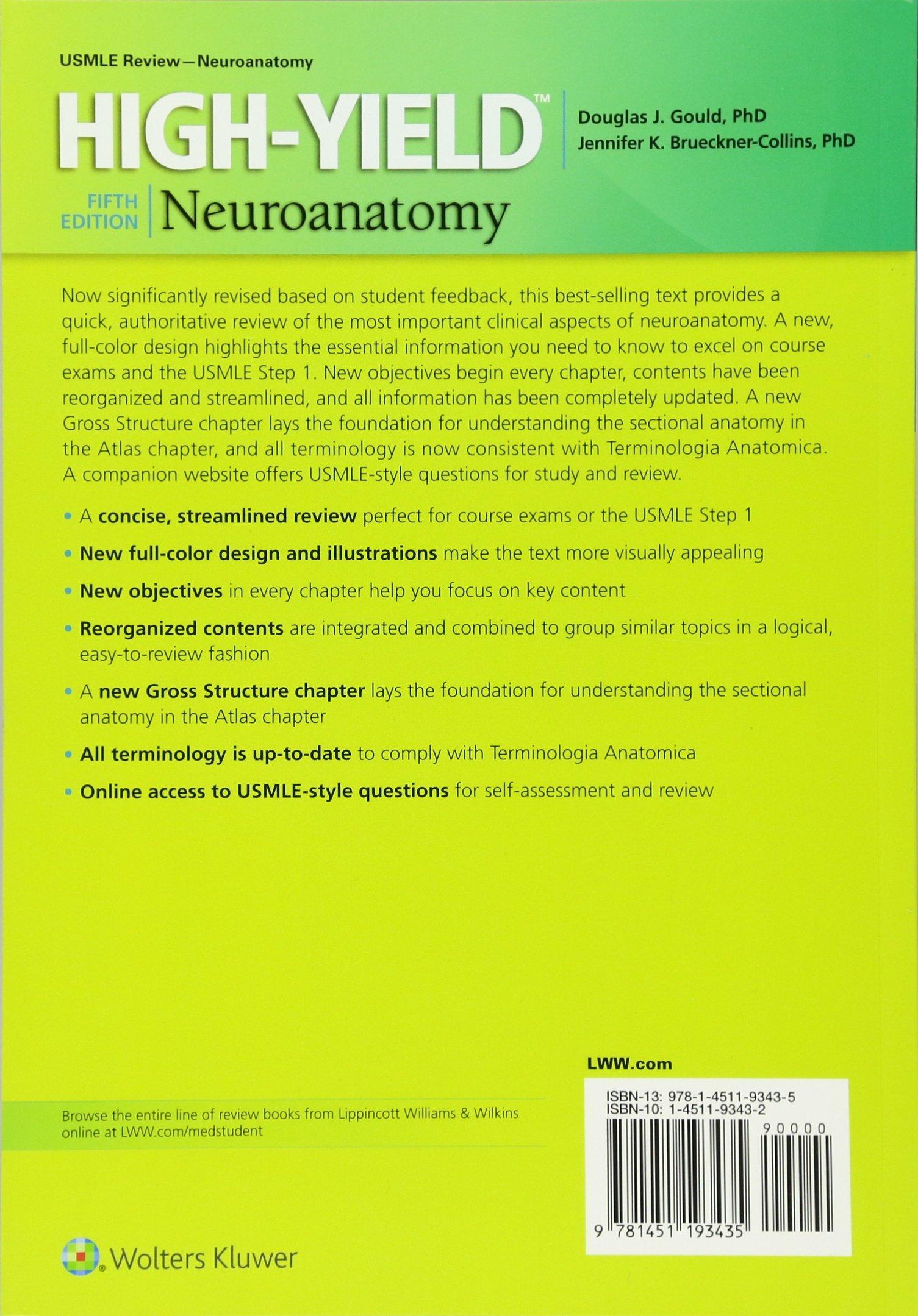 Buy High-Yield (TM) Neuroanatomy (High-yield Series) Book Online at ...
