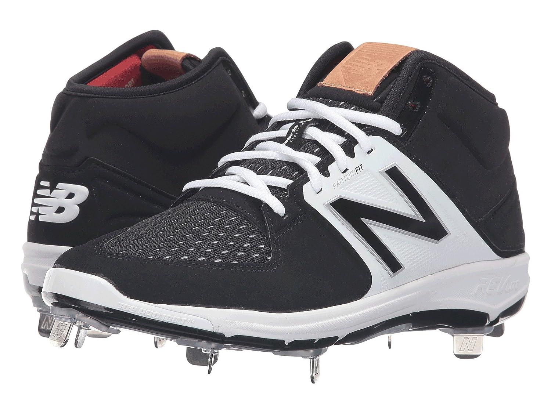 (ニューバランス) New Balance メンズ野球ベースボールシューズ靴 M3000v3 Black/White 14 (32cm) D Medium B07BQNFJY5