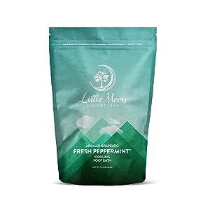 Little Moon Essentials Cooling Foot Bath Salt, Fresh Peppermint, 13.5 oz.