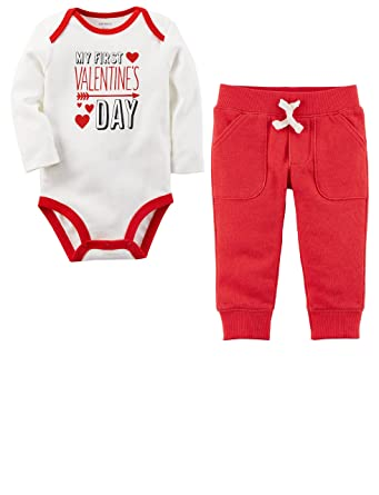 Amazon Com Carter S Baby Boys My First Valentine S Day Bodysuit