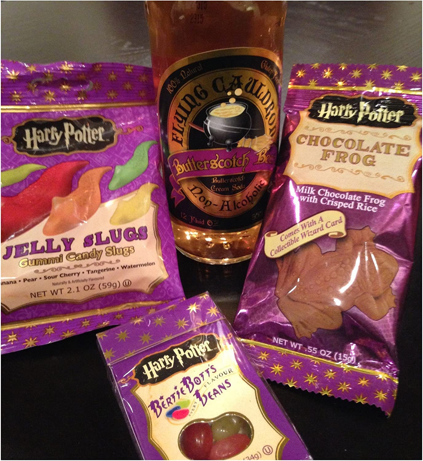 Harry Potter Candy 4pc Gift Set Butterbeer Bertie Botts Jelly Slugs Choc Frog Top Buyer's Choice