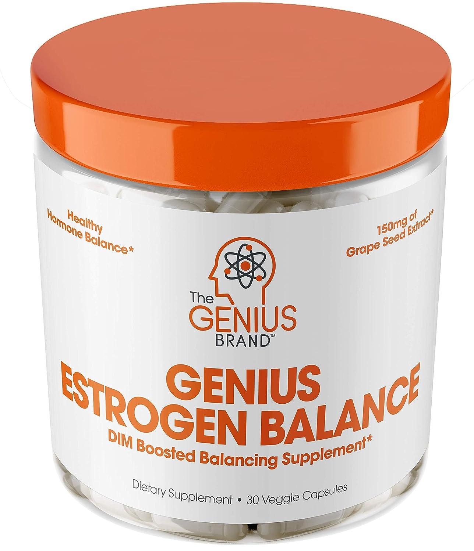 Genius Estrogen Balance – DIM Supplement w/Grape Seed Extract, Dual  Estrogen Blocker for Men &