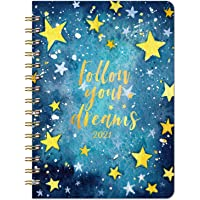 """2021 Planner - Weekly & Monthly Planner with Tabs, 6.3"""" x 8.4"""", Jan. - Dec. 2021, Hardcover with Back Pocket + Thick…"""