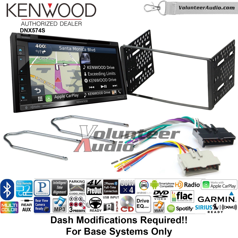 Kenwood dnx574sダブルDINラジオインストールキットwith GPSナビゲーションApple CarPlay Android自動Fits 1995 – 1997 Explorer、1997 e-150、2004 – 2006 Expedition B07C27HDLT