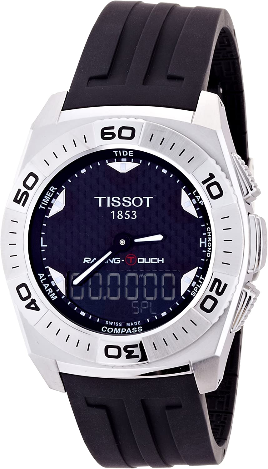Tissot Men s T002.520.17.201.01 Black Tactile Dial Watch