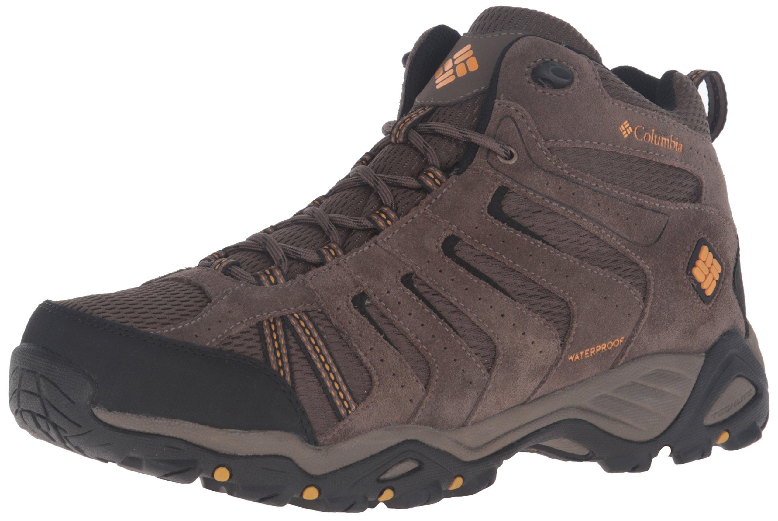 Columbia Men's North Plains Ii Waterproof Mid Hiking Boot, Mud, Squash, 10.5 D US