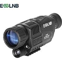ESSLNB Nachtsichtgerät für Jagd Militär 5X40 Digital Night Vision Scope mit 8GB TF Karte Infrarot Kamera und Stativanschlussgewinde Wiedergabe Foto und Videoaufnahmefunktion bei Tag und Nacht