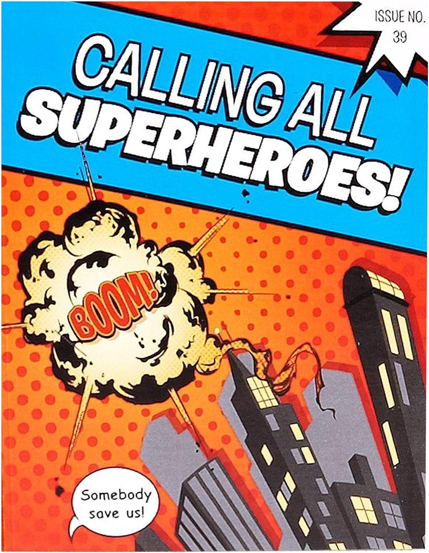 Birthday Express Superhero Comics Party Supplies - Invitations (8)