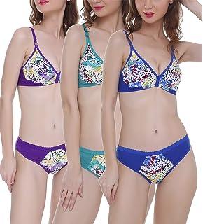 2093e17fc90f FIMS - Fashion is my style Women's Cotton Bra Panty Set for Women|Lingerie  Set