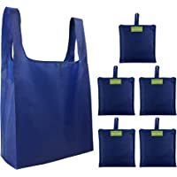 Foldable Reusable Grocery Bags Cute Designs, Folding Shopping Tote Bag Fits in Pocket