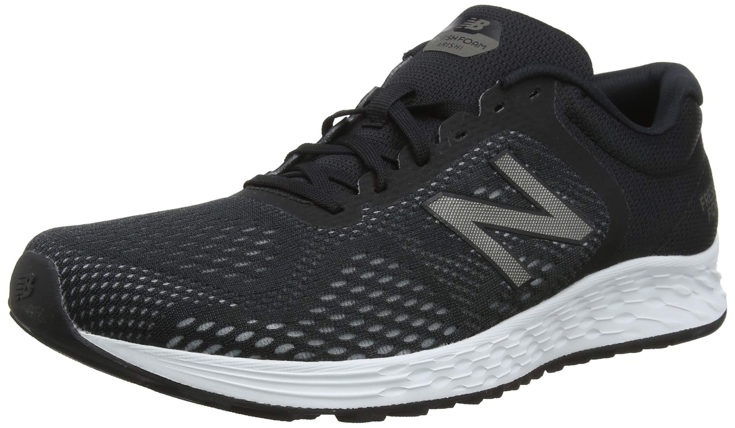 New Balance Men's Arishi V2 Fresh Foam Running Shoe, Black/Gunmetal, 9.5 D US