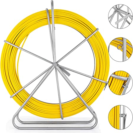 USA 4mm 30meter Fish Tape Wire Cable Puller Fiberglass Conduit Rodder Duct Tool