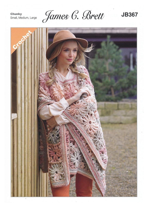 Amazon James C Brett Jb367 Crochet Pattern Ladies Cape In