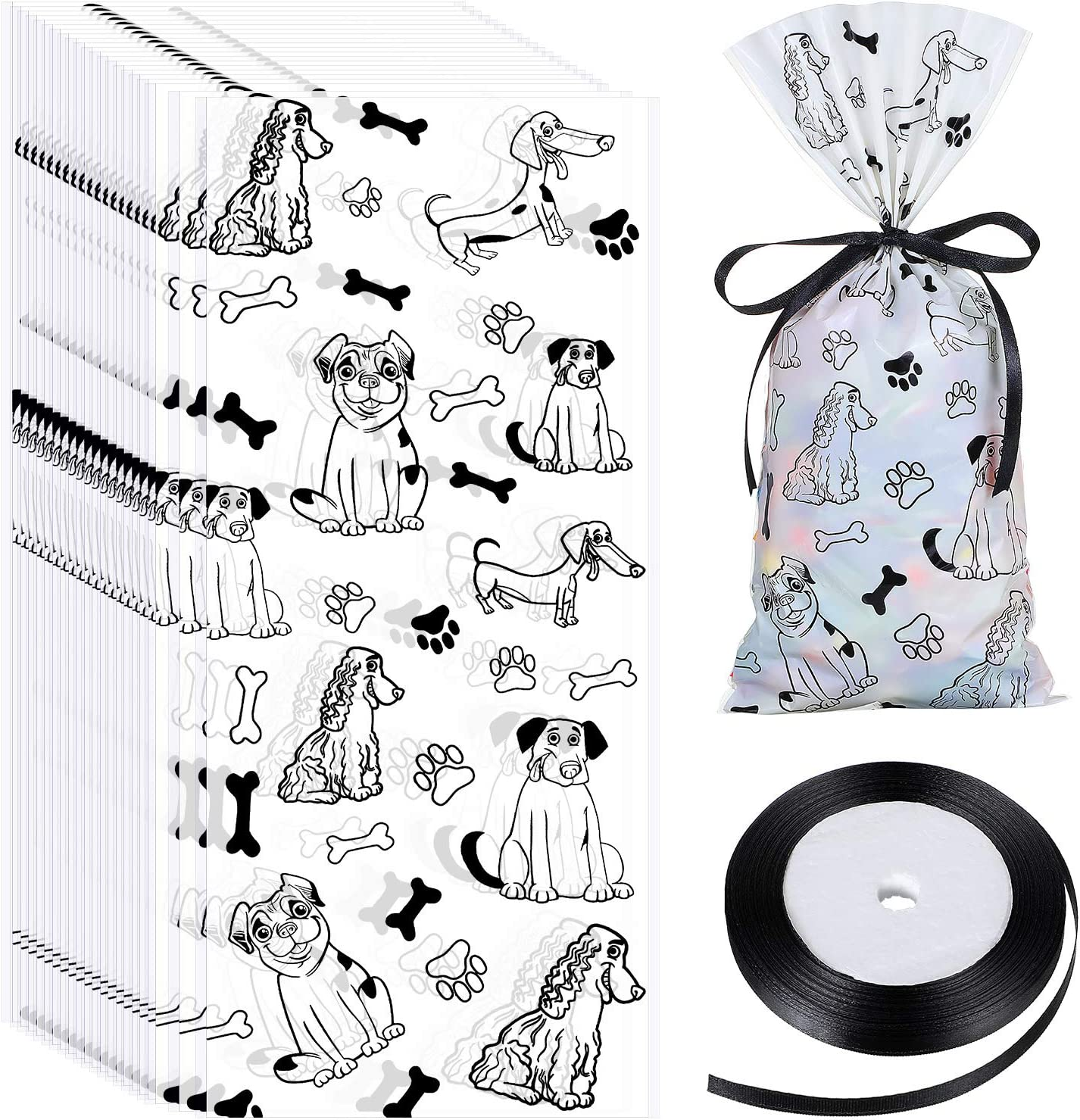 Contact us 4 Lgr Qty Paw Print Favor Bags Colored Paw Print Cellophane Bags Paw Print Cello Bags Bag Qty 10 Paw Print Cellophane Bags