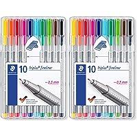 Staedtler Triplus Fineliner 0.3 mm Porous Point Pen 334 - SB10, 2 Pack of 10