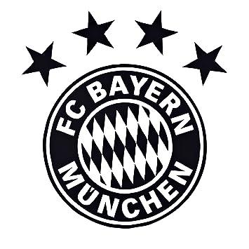 Wandtattoo Logo Schwarz Fc Bayern Mnchen Fcb Gratis Aufkleber