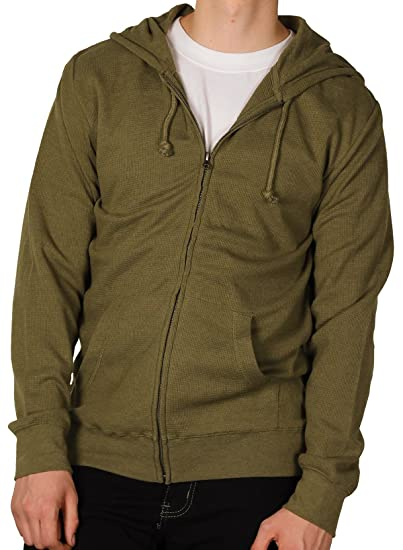 3adc9f89 Gear For Sports Men's Thermal-Weave Lightweight Zip Hoodie, Vine, Size Small