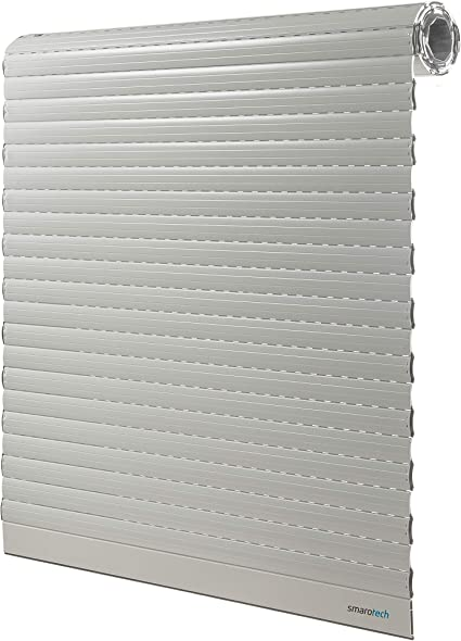 Smarotech - Persiana colgante (120 cm de alto, láminas de aluminio de 37 x 8 mm), Negro: Amazon.es: Bricolaje y herramientas