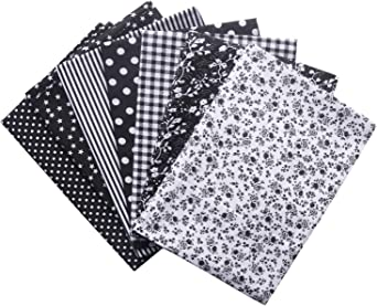 25//50cm Assorted Pattern Floral Cotton Fabric Cloth For DIY Crafts Sewing 7pcs