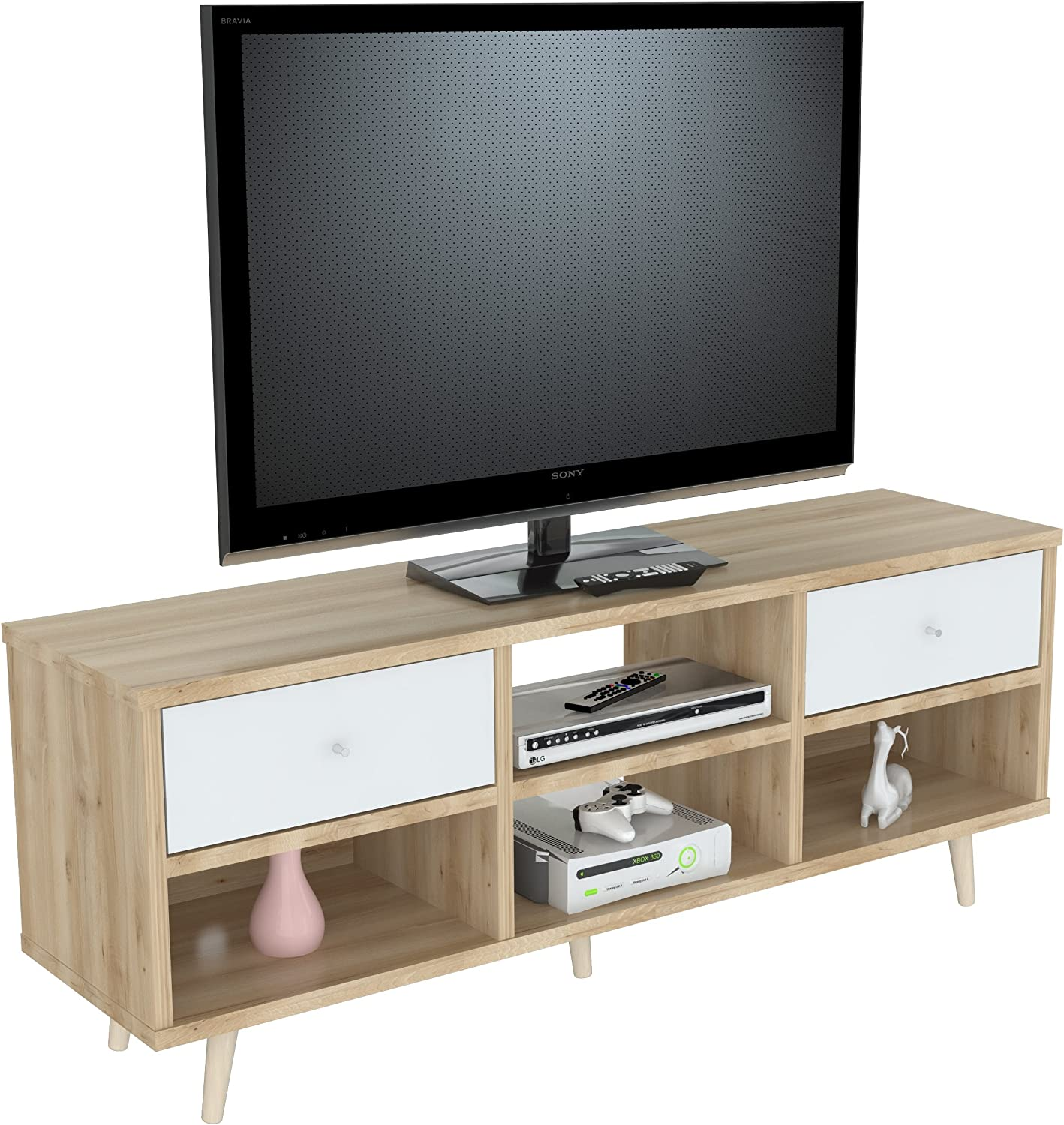 Inval America Scandia Maple Entertainment Stand