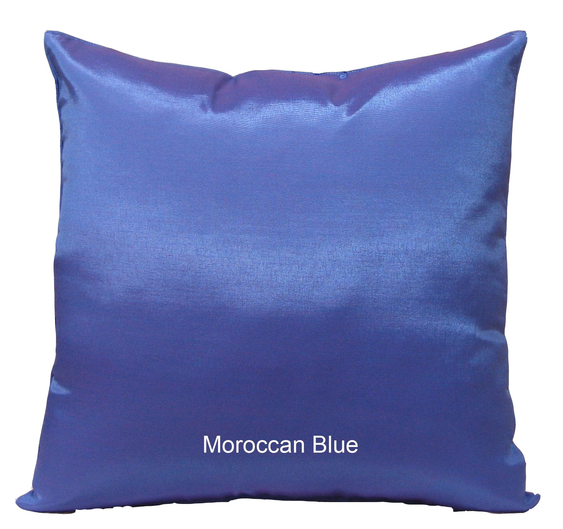Shopping The Globe - 1 Thai Silk Look 16''x16'' Pillow Cover (Pillow Not Included) - Moroccan Blue by Shopping The Globe