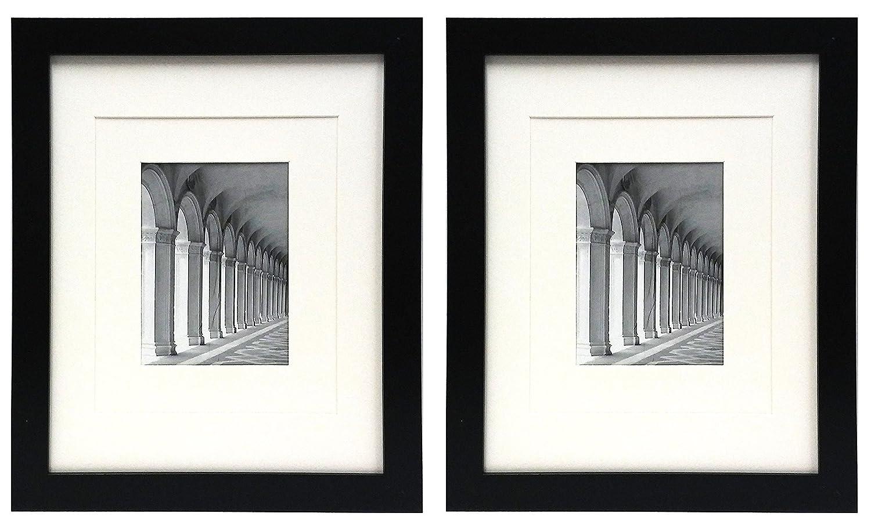 Studio 500 11 by 14ブラックワイド写真フレーム – はW/2異なるサイズのマットを画像フレーム – Matts画像8 x 10または5 x 7のイメージ、現代の画像フレーム、mdf2915 – 1 , 2 - Pack B078RV88KH