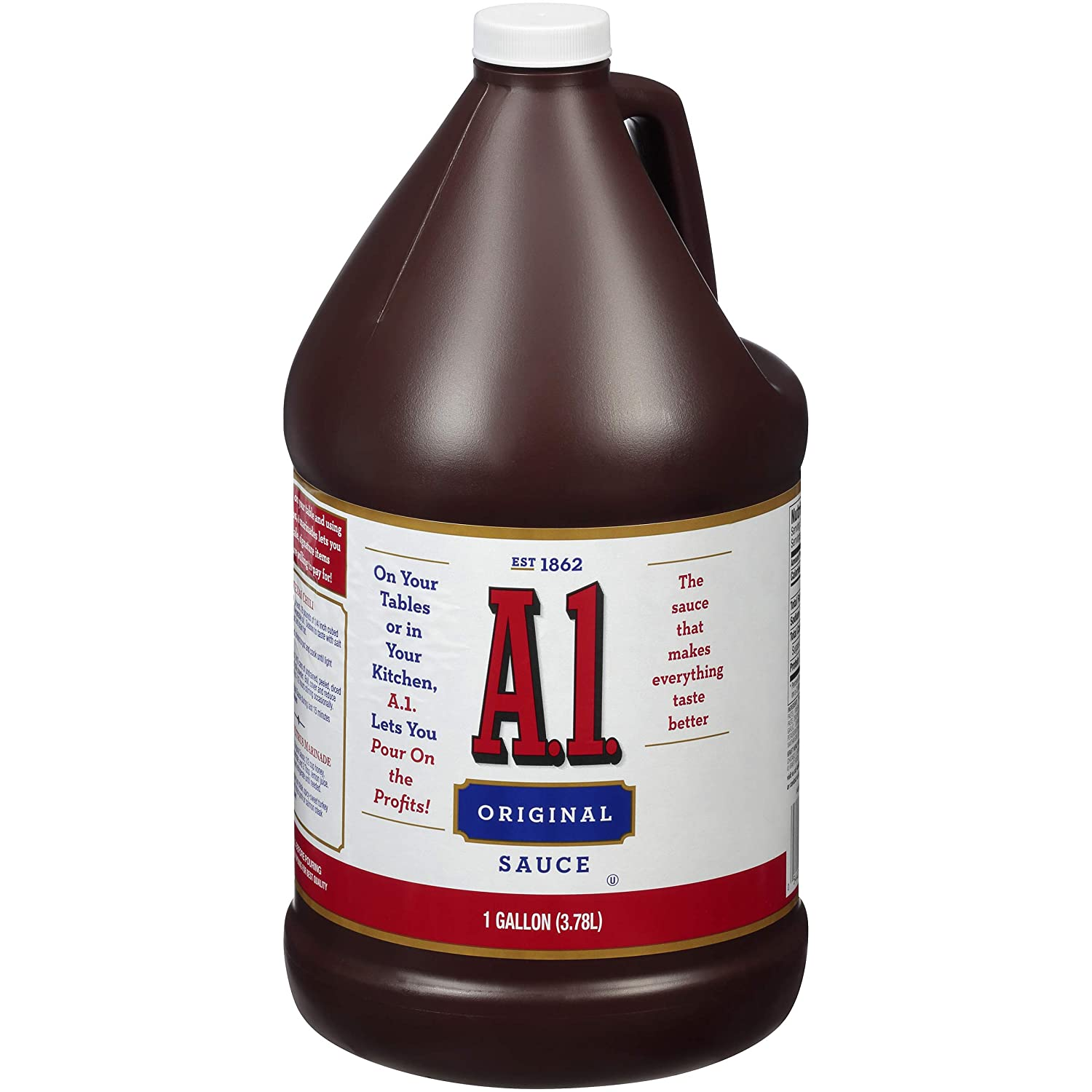 Amazon Com A 1 Original Steak Sauce 1 Gal Jugs Pack Of 2 Gourmet Sauces Grocery Gourmet Food