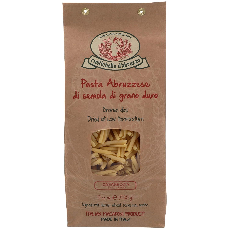 Rustichella D Abruzzo Casareccia Durum Wheat In Brown Paper Bag 1 1 Pound Italian Pasta Grocery Gourmet Food