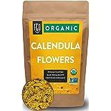 Organic Calendula Flowers | Whole | 16oz Resealable Kraft Bag (1lb) | 100% Raw From Egypt | by FGO