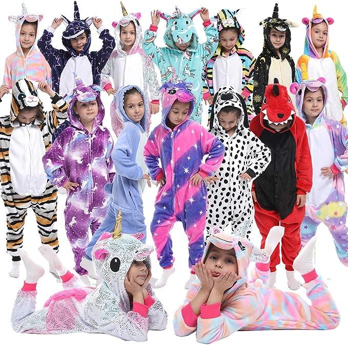 Z-YQL Unicornio para niños, pijama de animales, cosplay, Halloween, unisex, disfraz de cosplay