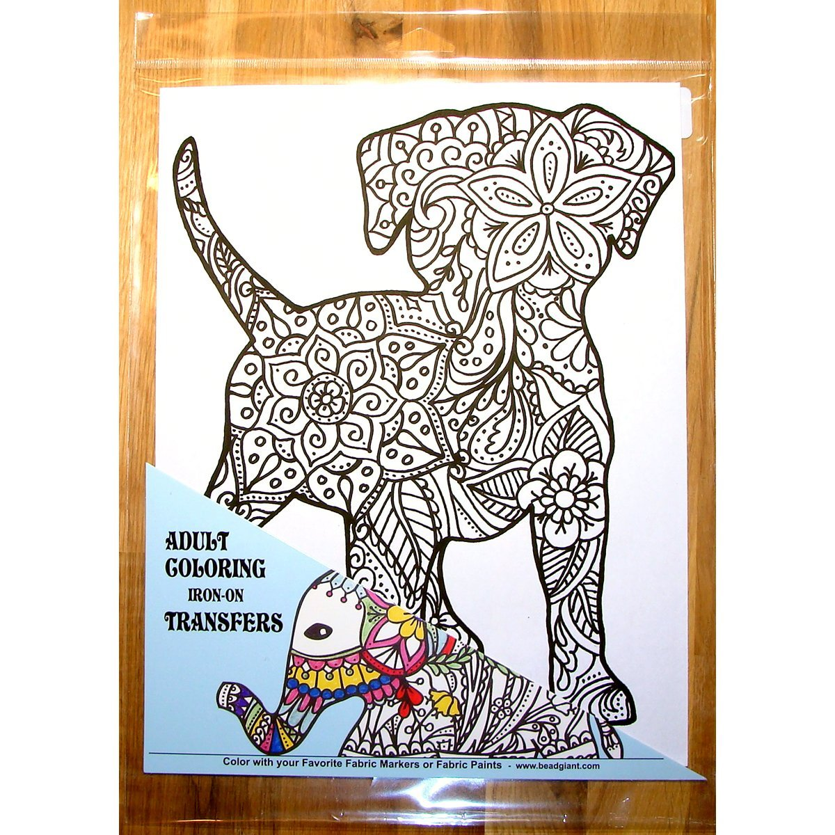 Zendoodle Iron On Transfers Adult Coloring Iron On Transfer Puppy Giraffe Crafts 28112